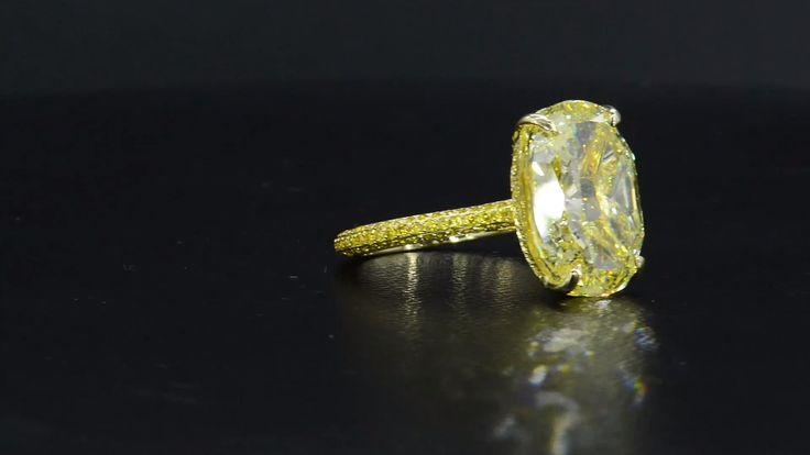 Yellow Diamond Pavè Engagement Ring by Bez Ambar