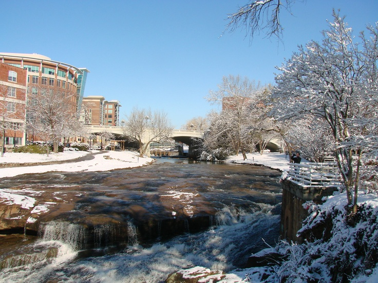 Greenville sc reedy river after the snow taken from fall for Fishing in greenville sc