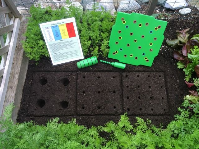 Square Foot Gardening Layout so Easy with the Seed Square ...