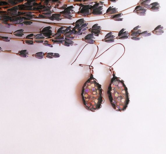 The tree of love  Stained glass earrings by schalle on Etsy, $33.00