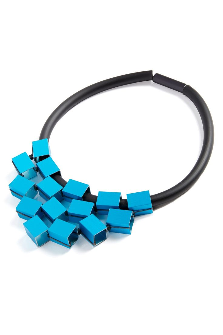 Christina Brampti Metal Cube Necklace