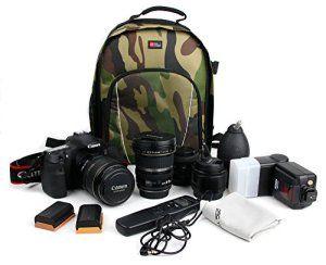 DURAGADGET Sac à dos résistant à l'eau motifs camouflage pour TEC.BEAN et TOMOUNT Caméra de Chasse et surveillance vidéo