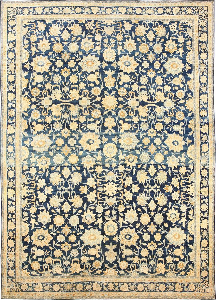 Large Oversized Antique Kerman Persian Rug 48690