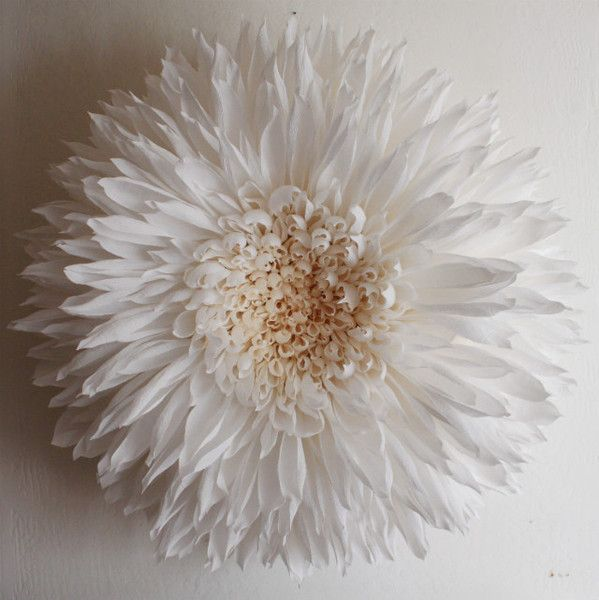 "paper dahlia  35"" diameter x 15"" deep.  Not really a DIY, unless you've been practicing a lot and are highly motivated!"