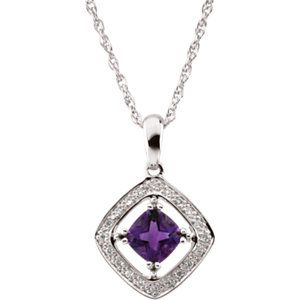 Amethyst & Diamond Necklace | Click through for product details OR to locate a jeweler near you!