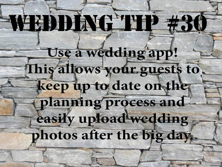 Wedding Tip #30