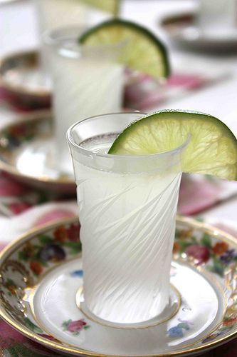 Kamikaze Cocktail or Shot: simple syrup, fresh lime juice, vodka, and triple sec