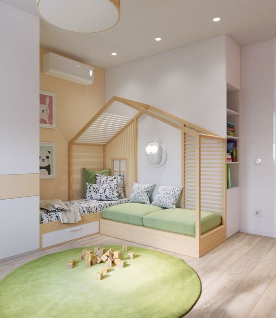 Baby Bunk Models With Roof  Baby Bunk Models with Roofs Safe and stylish bunk designs designed for babies are specially designed to ensure that the baby room has a quality appearance. The roofed bunk bed models provide both high quality and comfortable sleeping area.   # Çatılıbebekranza of # çatılıçocukranzal