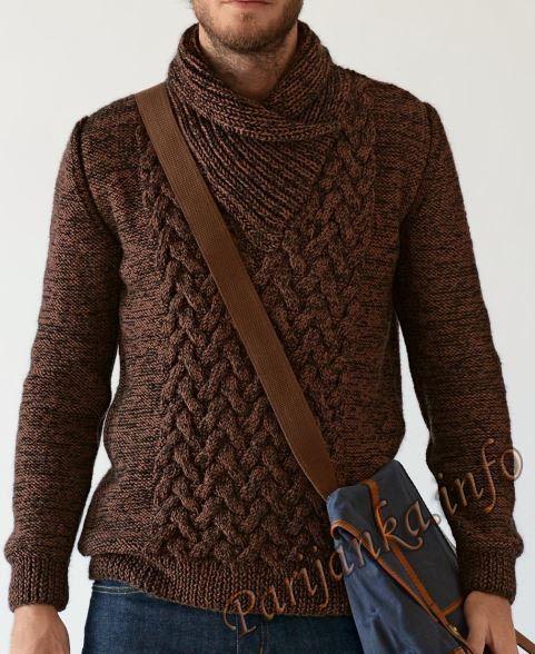 Мужской пуловер спицами от Bergere de France. Все размеры. Обсуждение на LiveInternet - Российский Сервис Онлайн-Дневников