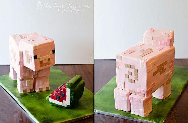 minecraft-cake-tutorial by imtopsyturvy.com, via Flickr