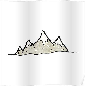 cartoon mountain