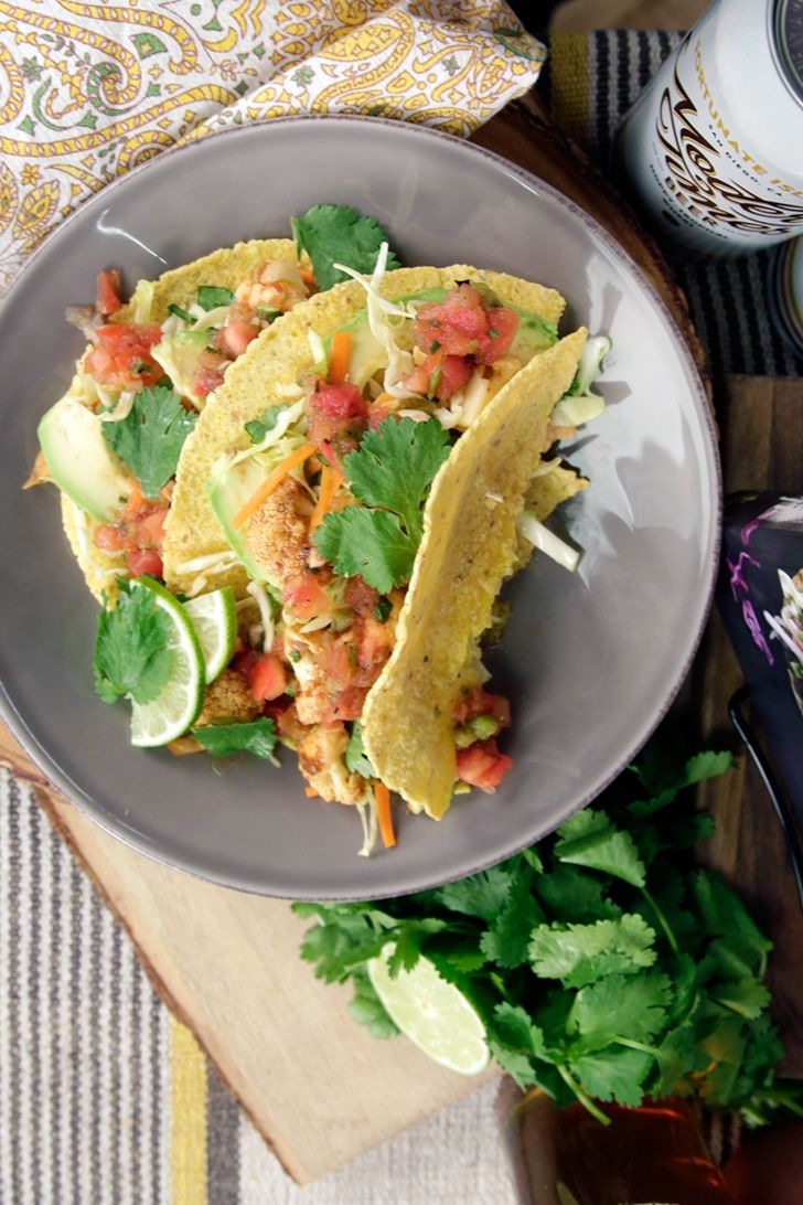 These vegan cauliflower tacos are healthy and delicious