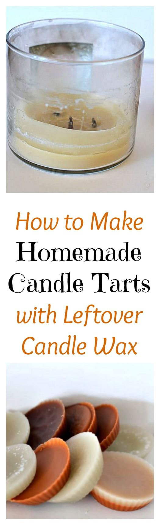 Save money with this easy DIY upcycling trick! Learn How to Make Homemade Candle Tarts with Leftover Candle Wax