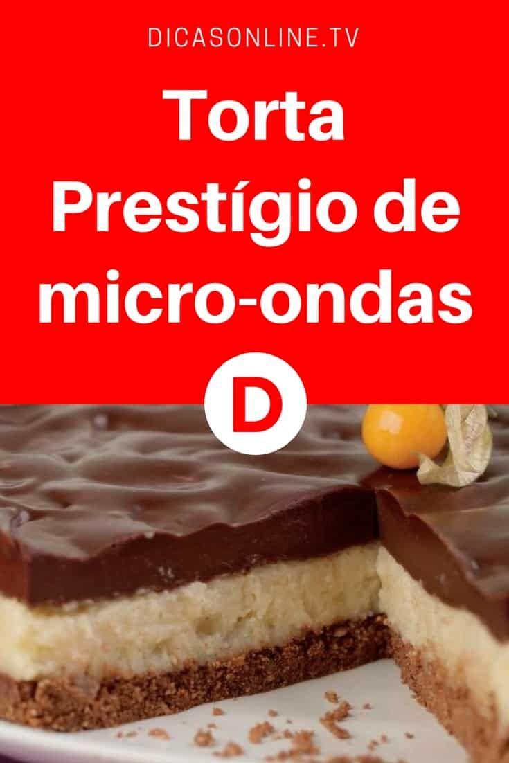 Torta Prestígio de micro-ondas | Delícia em três camadas