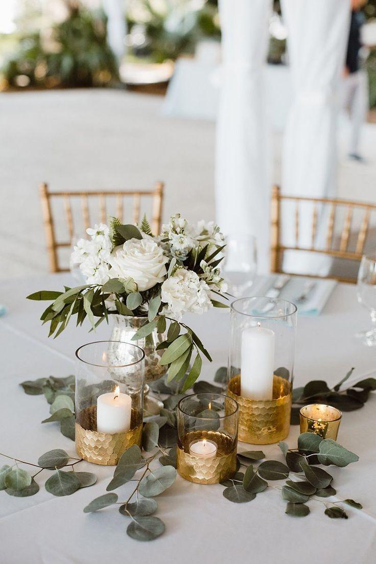 38 Goldhochzeits-Mittelstücke, die wirklich begeistern   – Dream wedding