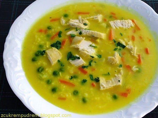 z cukrem pudrem: zupa curry kurczakiem