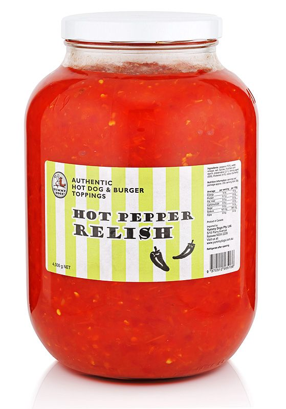 Some like it hot, and there's nothing more fiery and delicious than our hot pepper relish. Use it to add interest to meat, fish, pasta and cheese dishes.