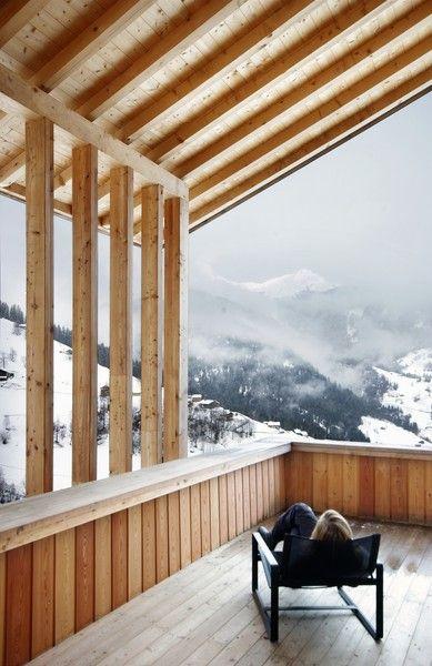 Prix national de la construction bois - Panorama - Chalet Beaufortain #FIBRA #bois #architecture