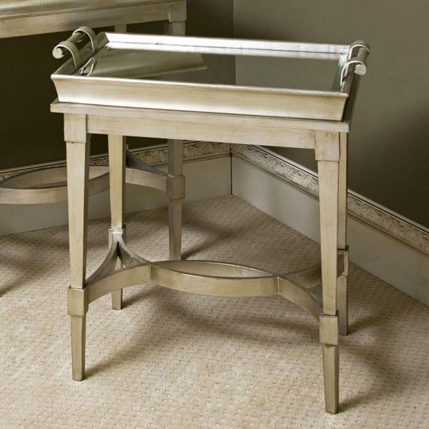 Adele Mirrored Butler Tray Table Dot And Bo Living