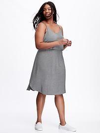 Double-Strap Plus-Size Cami Dress