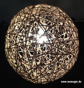Kugellampe aus Paketschnur