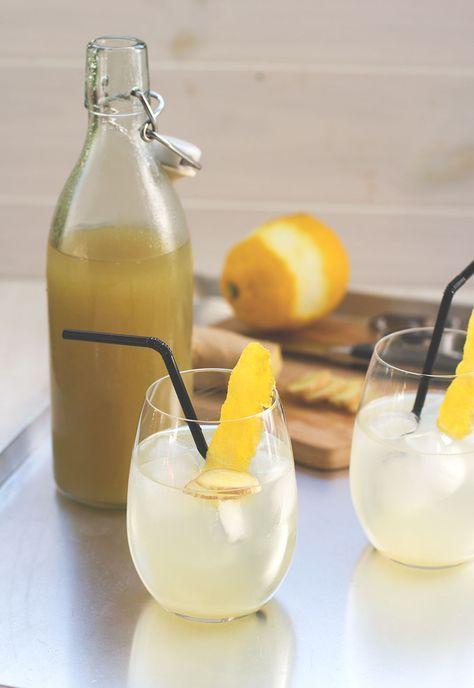Rezept für leckeren, erfrischenden Ingwer-Zitronen-Sirup (mit und ohne Thermomix)