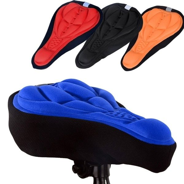Bicycle Road Cycling Saddle Gel Cushion Mountain Bike Seat Cover Soft Pad Mat