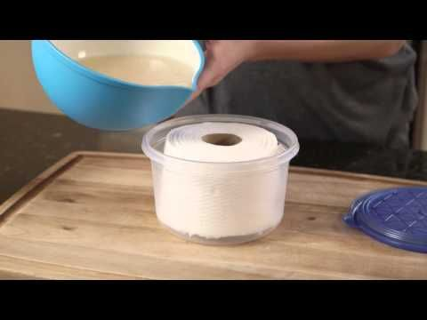 DIY Refillable Cleaning Wipes. Part of the series: #eHowHacks: Home & Garden. No supplies to clean your counter? Wipe away your tears and refill your cabinets with this homemade hint from #eHowHacks. Read more: http://www.ehow.com/video_12340957_diy-refillable-cleaning-wipes.html