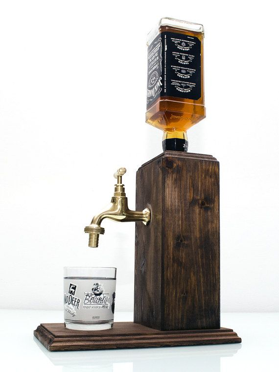 Handmade Wooden Whiskey Dispenser, Liquor Dispenser, Alcohol Dispenser, whiskey gift, liquor gift, alcohol gift - Free shipping worldwide  **LIMITED TIME NEW YEARS 10% OFF ALL PRODUCTS** USE COUPON: TEN2017  Hand made alcohol dispenser with a brass tap. Fits regular sized bottles mainly up to 1 liter.  The dispenser system is built into a large solid block of wood. The wood is hand stained and painted with pure tung oil for an alcohol resistant finish.  Our system is easy to use, just turn…