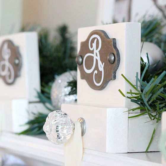 Easy Build Stocking Hangers  | 28 classic DIY Christmas recipes, decor Ideas, and kids' crafts