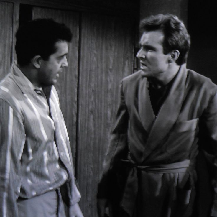 "'Bill' (Charles Aidman) explains to  'Chris' (Robert Sampson) that the portal was closing fast which was why he told him to rush.  ""Little Girl Lost""  1962"