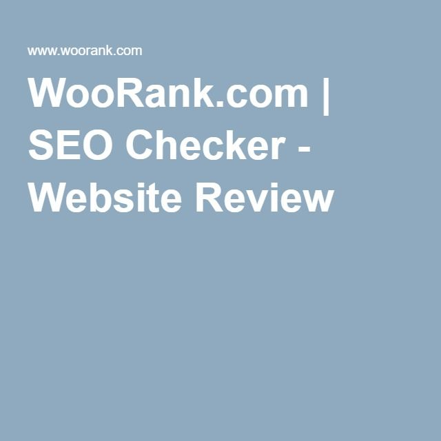 WooRank.com | SEO Checker - Website Review