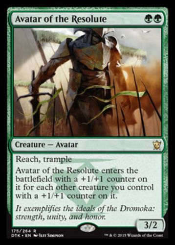 Avatar-of-the-Resolute-x4-Magic-the-Gathering-4x-Dragons-of-Tarkir-mtg-rare-NM