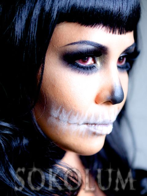 skeleton makeup photography - Google Search
