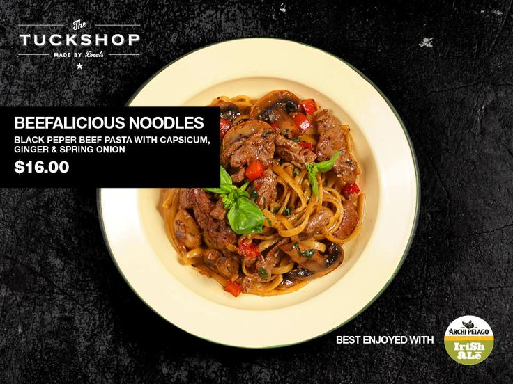 Beefalicious Noodles Black Pepper Beef Pasta with Capsicum, Ginger & Spring Onion