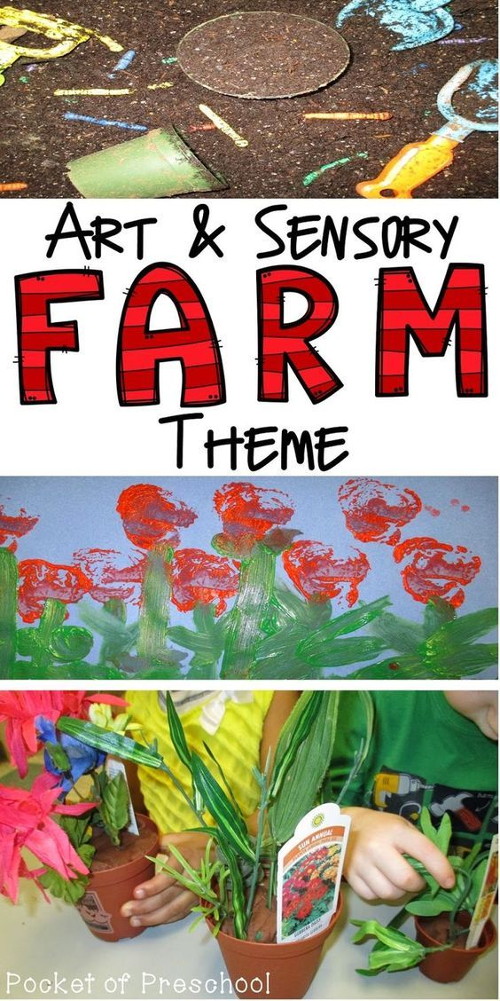 Sensory and Art Ideas and Activities for a farm theme in a preschool, pre-k, or kindergarten classroom. Pocket of Preschool