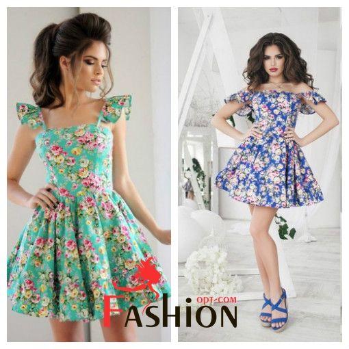 🌷9️⃣4️⃣5️⃣руб🌷 Платье цветы 1048 Размеры: 42,44,46(S,M,L). Ткань: коттон. Лиф на косточках. Цвет: бирюзовый,электрик,голубой,белый,розовый,темно-синий