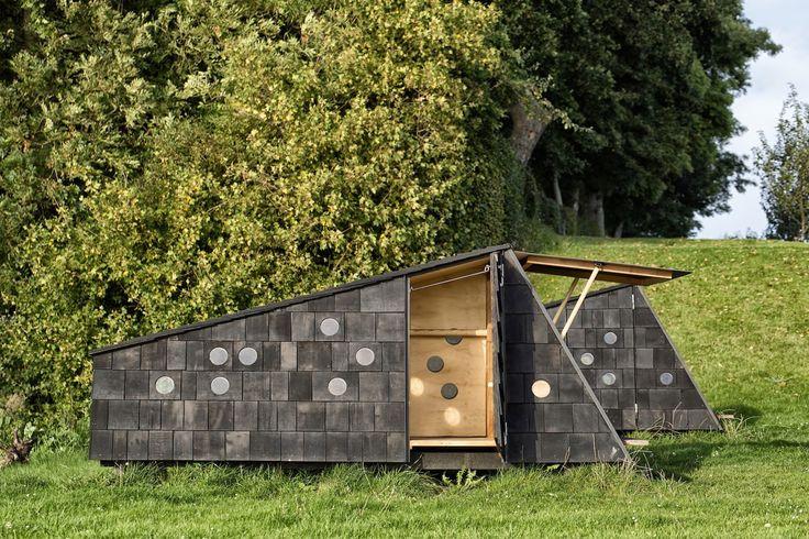 LUMO Architects, Shelters by the Sea by LUMO Architects, timber cabins. cabins, Blue Landmarks, South Fyn Archipelago, Fyn, wood tar oil, Denmark, Denmark islands,