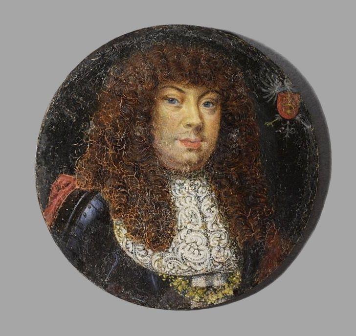 Miniature of Michael Korybut Wiśniowiecki by Anonymous, ca. 1669 (PD-art/old), Zamek Królewski na Wawelu