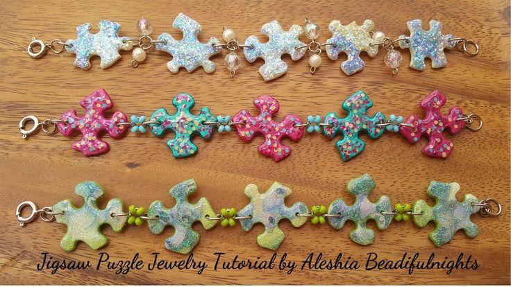 Jigsaw Puzzle Jewelry Tutorial