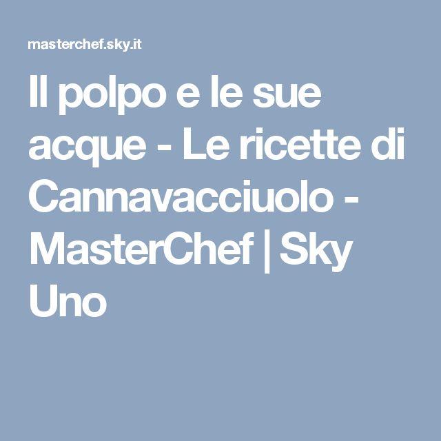 Il polpo e le sue acque - Le ricette di Cannavacciuolo - MasterChef   Sky Uno