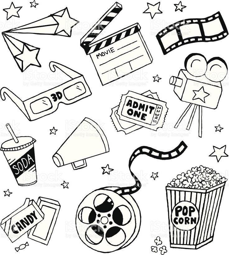 A movie-themed doodle page.