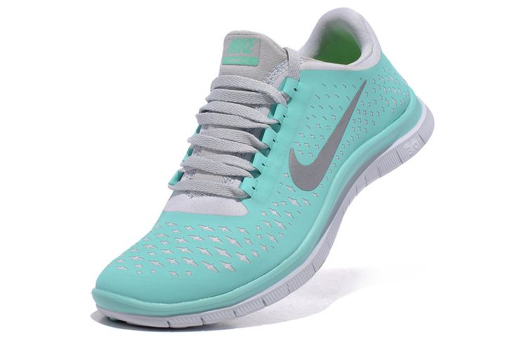 Womens Nike Free 3.0 V4 Tropical Twist Reflective Silver Pro Platinum White Lace Tiffany Blue Nike Shoes - Click Image to Close