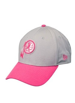 d1e8c0aaa6b ... Womens Washington Redskins New Era Gray 2016 Breast Cancer Awareness  Sideline Cuffed Pom Knit Hat Support your Washington Redskins and fight for  the ...