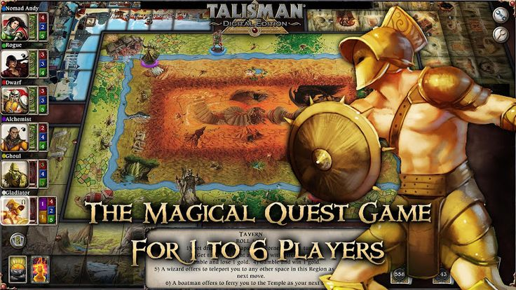 Talisman v10.7 [Unlocked]   Talisman v10.7 [Unlocked]Requirements:2.3 Overview:Talisman: Digital Edition the classic fantasy adventure board game for 1-4 players.  This officially licensed version of the Games Workshop game uses the 4th Revised Edition rules. In Talisman you embark on a perilous quest for the ultimate treasure the Crown of Command. Choose from 14 characters such as the Warrior Assassin Thief or Wizard and race your opponents through a perilous realm. Each character is unique…