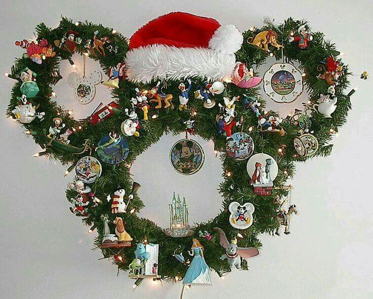 Best mickey mouse christmas deco images on pinterest