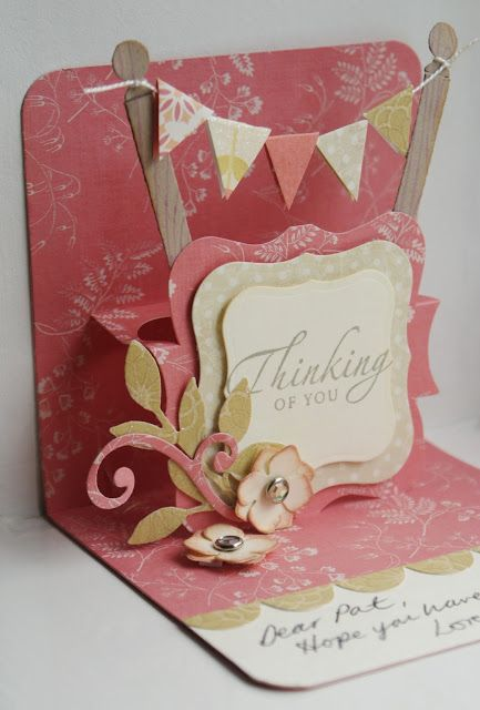 Pop up card. This could be fun. Pop up