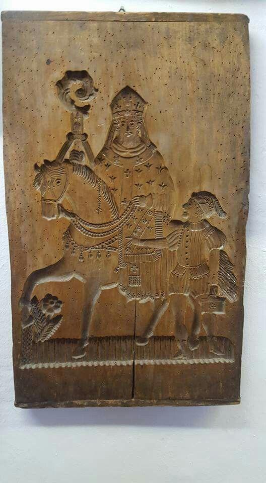Speculaasplank, Sint Nicolaas en zijn knecht!