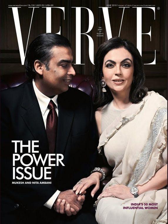 Mukesh and Nita Ambani http://sareedreams.com/2010/06/neeta-ambani-pratima-gaurav-saree/