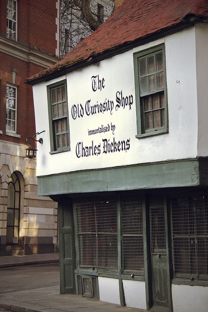 The Old Curiosity Shop - London -can be found at 13–14 Portsmouth Street, Westminster, London, WC2A 2ES, amongst the buildings of the London School of Economics. The building dates back to the sixteenth century, but the name was added after the novel by Dickens was released, as it was thought to be the inspiration for Dickens's description of the antique shop.